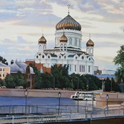 Картина живописная Храм Христа Спасителя фото