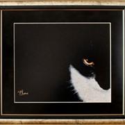Картина Смоляной красавец, ручная работа, вышивка фото