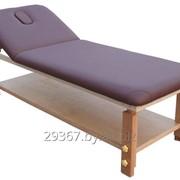 Стационарный массажный стол BodyFit бордовый фото