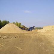 Песок речной и карьерный фото
