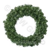 Декор Венок еловый d 0,90м Императорский зеленый фото