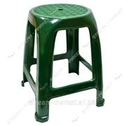 Табурет пластик темно-зеленый (дл. 27, 5см, шир. 37см, выс. 46см) фото