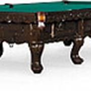Бильярдный стол для русского бильярда Gogard 12ф (черный орех) фото
