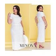 Платье женское белое миди (7 цветов) ОМ/-5201 фото