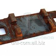 Подкладка КБ65 для железобетонной шпалы раздельного скрепления железнодорожного пути фото