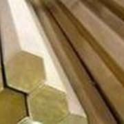 Латунный шестигранник ЛС59-1 № 40 мм длиной 3 мп мягкий, твёрдый, полутвёрдый фото