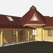 Дома деревянные лапландские, дома из оцилиндрованного бревна, кафе из дерева, кафе из бруса фото