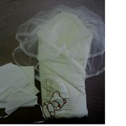 Комплект на выписку для новорожденных Н1981 фото