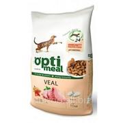 Сухой корм для взрослых котов - с телятиной Optimeal 11 кг фото