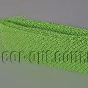 Сетка салатовая с люрексом для бантов и декораций 8см/25ярд 570576 фото