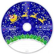 Компакт диск CD-R 700мБ Mirex Новогодний туба по 25 шт. фото
