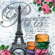 Салфетка для декупажа Парижское печенье фото
