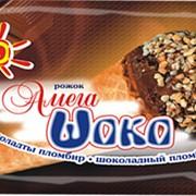 Пломбир шоколадный рожок Амега Шоко фото