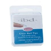 Типсы IBD Clear Nail Tips #1 Refill фото