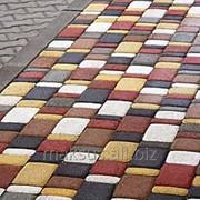 Плитка тротуарная Старый город (серый, красный), 80 мм фото
