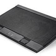 """Подставка для ноутбука Deepcool WIND PAL FS (WINDPALFS) 17""""382x262x24мм 26.5дБ 2xUSB 2x 140ммFAN 793г черный фото"""