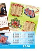 Разработка дизайна и изготовление любого вида календарей фото