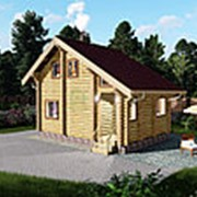 Дом из оцилиндрованного бревна 7,5х5,5 фото