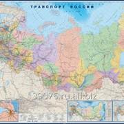 Настенная карта Транспорт России фото