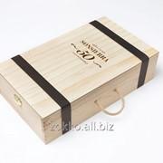 Упаковка для вина с ручкой и перегородками ,фанера 12мм и 4мм фото