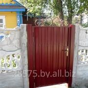 Ворота, калитки из металлопрофиля фото