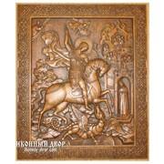 Святой Великомученик Георгий Победоносец - Резная Деревянная Икона Код товара: Ор-03 фото