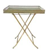 Столик складной декоративный, золотая патина фото
