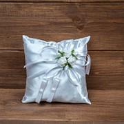 Свадебная подушечка для колец белая, арт. CR-001 фото