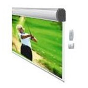 Электрический проекционный экран, оборудованный трубчатым двигателем SOMFY(США)Незаменимое решение для успешных презентаций фото