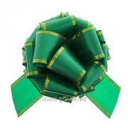 Бант-шар № 10 Золотые полосы , цвет зелёный фото