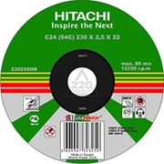 Круг отрезной HITACHI 115*1,0*22 А54 отрезной металл /50/400/ фото