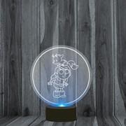 Светильник 3D, ночник Хильда, Hilda №1 фото