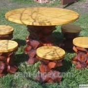 Мебель дачная, садовая и парковая из дерева фото