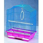 Клетка ЗК для птиц 112 цветная 30*23*39см фото