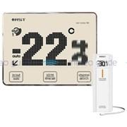 Цифровой термометр с радиодатчиком, точечно-матричный дисплей с анимацией температур RST 02780 фото