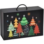 Коробка подарочная Зимняя ночь складная, с ручкой фото