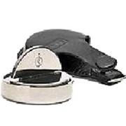 Печать ИП Оснастка карманная со встроенной окрашенной штемпельной подушкой в кожаном чехле Техно фото