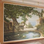 Декор стен. 3д картины, написанные на стене  фото