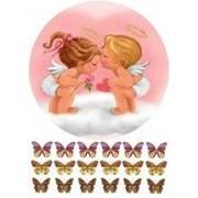 "Вафельная картинка ""Два ангелочка"" фото"