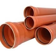 Трубы ПВХ для наружной канализации ф110-500мм фото