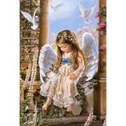 Картина по номерам Ангелочек с кроликом фото