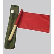 Флажки СИГНАЛЬНЫЕ (2 шт ) красный-белый фото