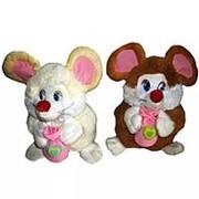 Мягкая игрушка Мышка с мешочком 28см фото