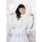 Свадебная шубка с капюшоном Лилиана фото