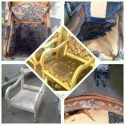 Реставрация мягкого стула фото
