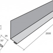 Планка зашивки универсальная ПЗУ B 218мм 0,45мм матполиэстер фото