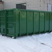 Контейнер металлический роликовый (откатной) открытого типа для сбора строительных, крупногабаритных отходов и других материалов КВВ25-00.00.00 фото
