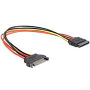 Переходник питания SATA M-F штекер на 1 SATA гнездо Cablexpert CC-SATAMF-01 кабель 30 см фото