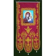 Хоругви тканевые, купить Хоругви тканевые, церковная утварь, креп-сатин фото