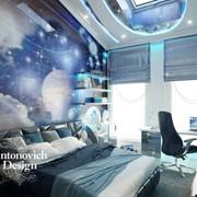 Дизайн детская комната в космическом стиле фото